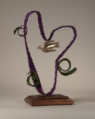 Purple Moebius Whimsy with Green Spirals